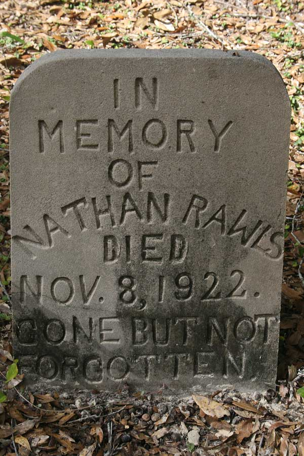 Nathan Rawls Gravestone Photo