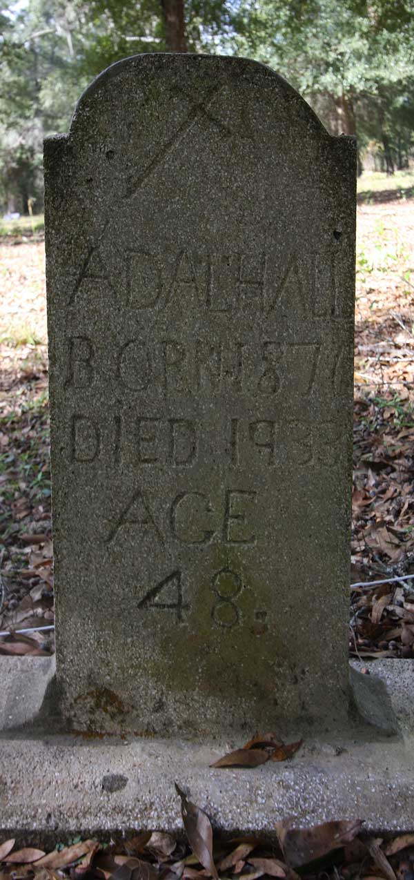 Adal Hall Gravestone Photo