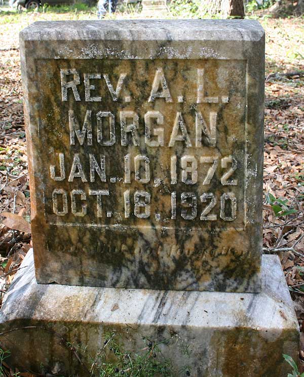 A.L. Morgan Gravestone Photo