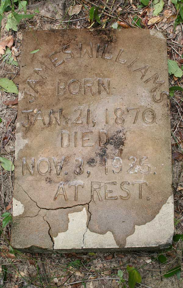 James Williams Gravestone Photo