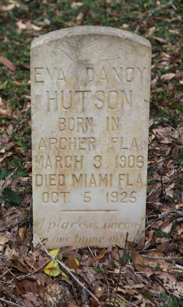 Eva Dancy Hutson Gravestone Photo