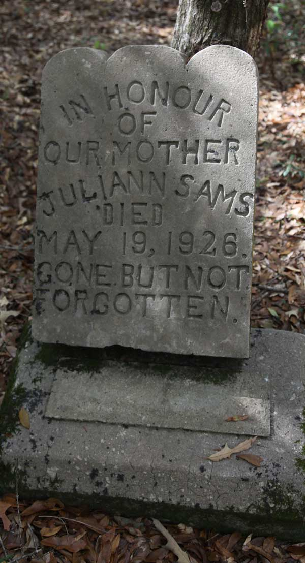 Juliann Sams Gravestone Photo