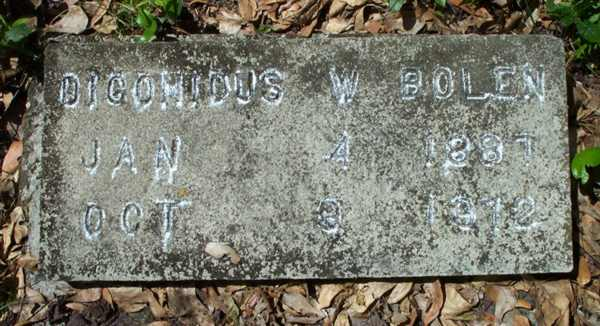 Dicomious W. Bolen Gravestone Photo