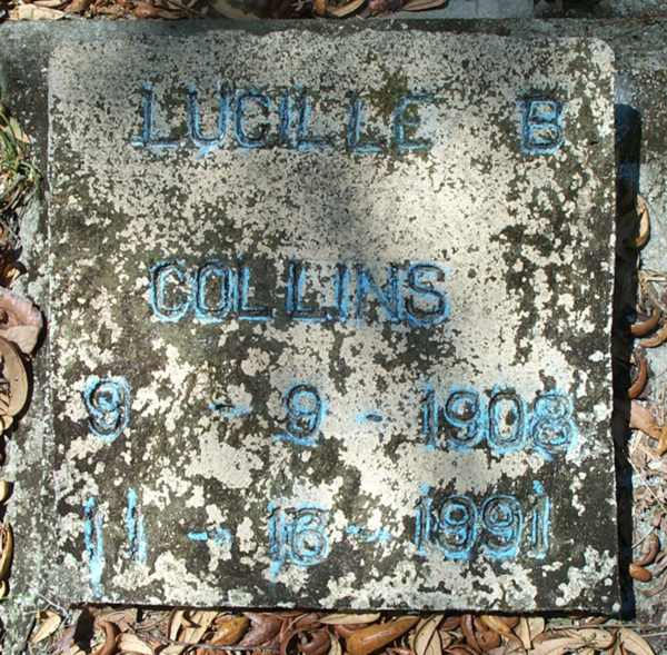 Lucille B. Collins Gravestone Photo