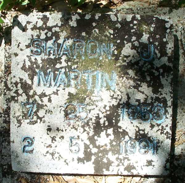 Sharon J. Martin Gravestone Photo