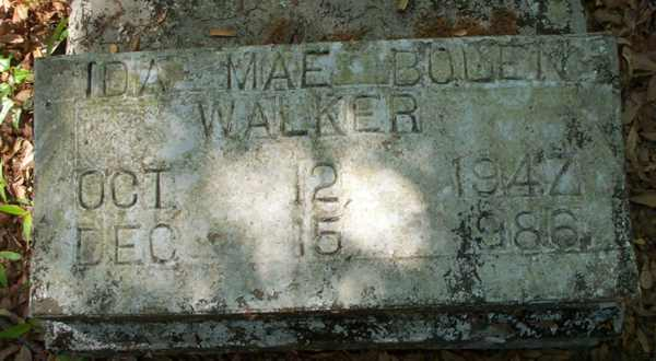 Ida Mae Bolen Walker Gravestone Photo