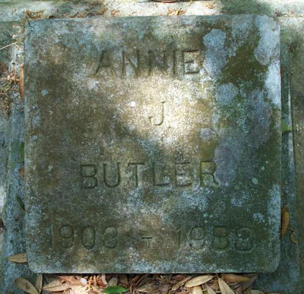 Annie J. Butler Gravestone Photo