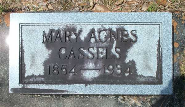 Mary Agnes Cassels Gravestone Photo