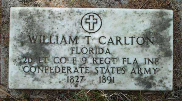William T. Carlton Gravestone Photo