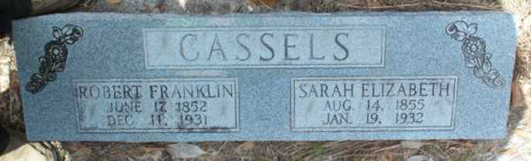 Robert Franklin & Sarah Elizabeth Cassels Gravestone Photo