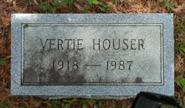 Vertie Houser Gravestone Photo