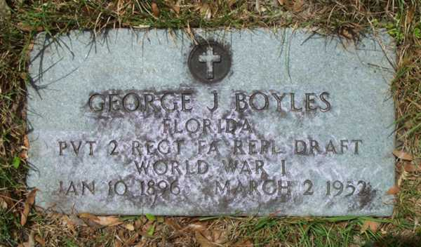 George J. Boyles Gravestone Photo