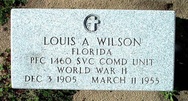 Louis A. Wilson Gravestone Photo