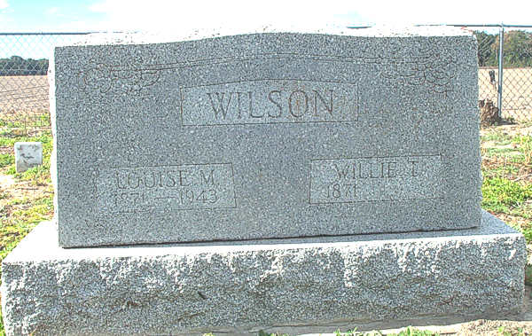 Louise M. & Willie T. Wilson Gravestone Photo