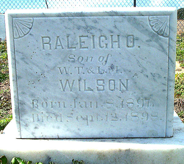Raleigh O. Wilson Gravestone Photo