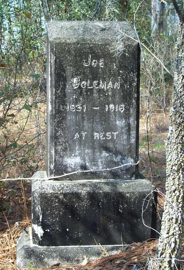 Joe Coleman  Gravestone Photo