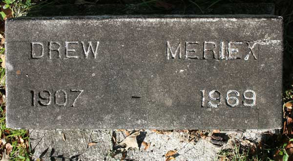 DREW MERRIEX Gravestone Photo
