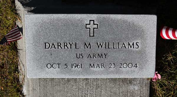 DARRYL M. WILLIAMS Gravestone Photo