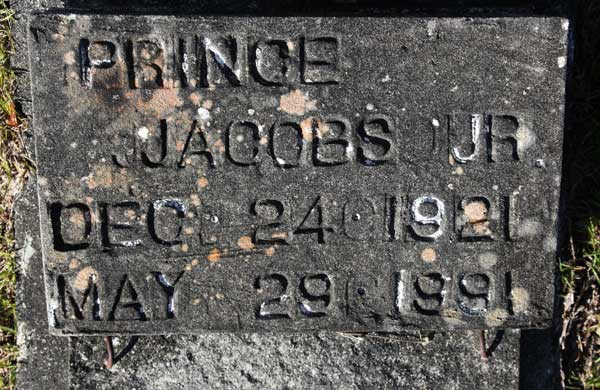 PRINCE JACOBS Gravestone Photo