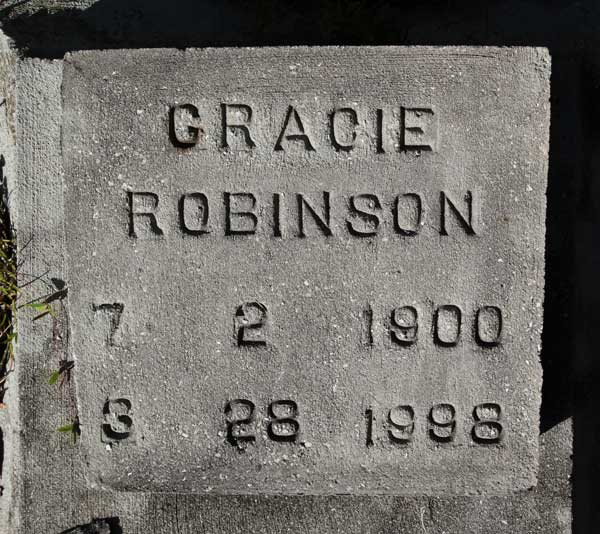 GRACIE ROBINSON Gravestone Photo