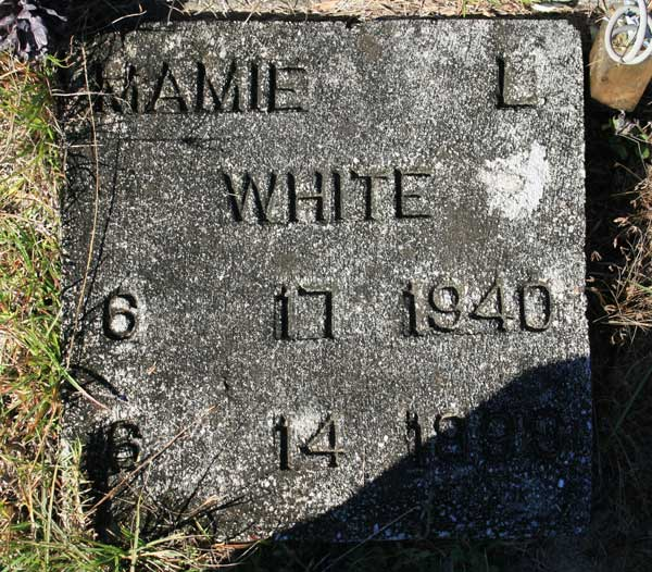 MAMIE L. WHITE Gravestone Photo