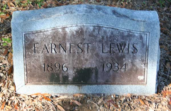 EARNEST LEWIS Gravestone Photo