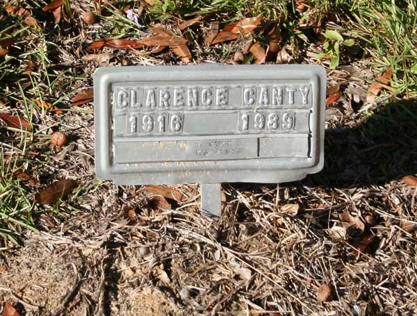 CLARENCE CANTY Gravestone Photo