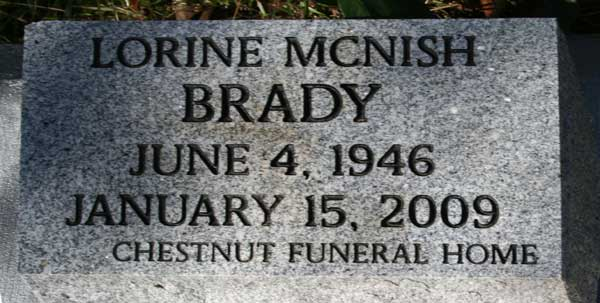 LORINE MCNISH BRADY Gravestone Photo