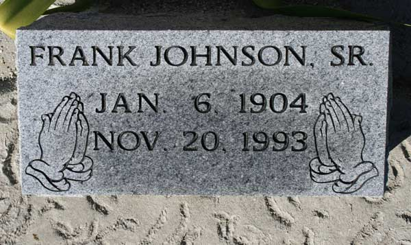 FRANK JOHNSON Gravestone Photo