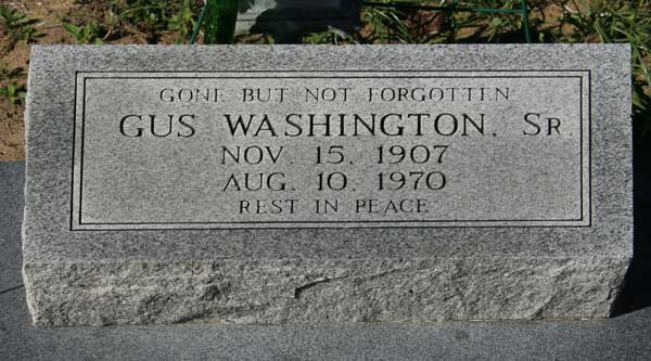 GUS WASHINGTON Gravestone Photo