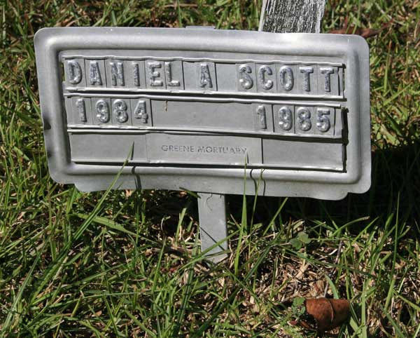 DANIEL A. SCOTT Gravestone Photo