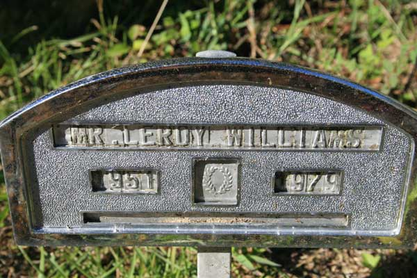 LEROY WILLIAMS Gravestone Photo