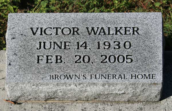 VICTOR WALKER Gravestone Photo