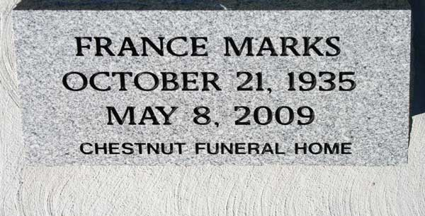 FRANCE MARKS Gravestone Photo