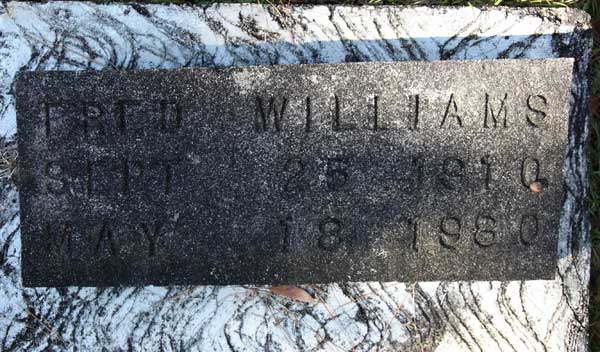 FRED WILLIAMS Gravestone Photo