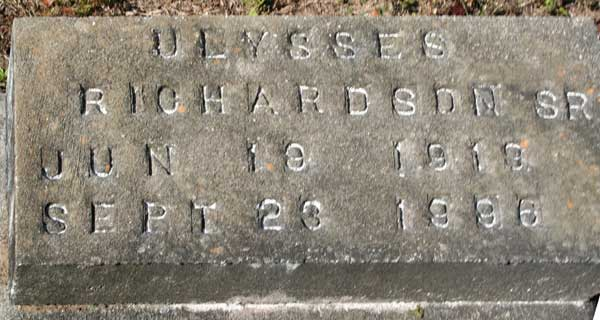 ULYSSES RICHARDSON Gravestone Photo