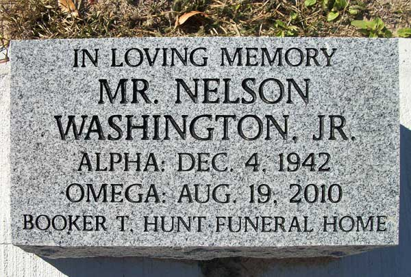 NELSON WASHINGTON Gravestone Photo