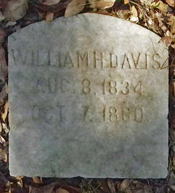 William H. Davis Gravestone Photo