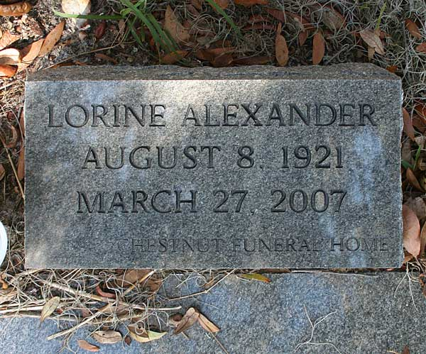 Lorine  Alexander Gravestone Photo