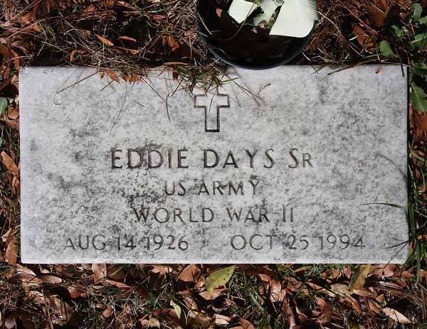 Eddie Days Gravestone Photo