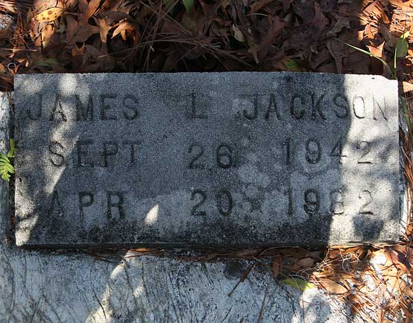 James L. Jackson Gravestone Photo