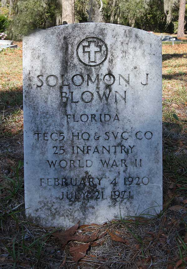 Solomon J. Blown Gravestone Photo