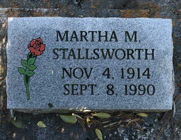 Martha M. Stallsworth Gravestone Photo