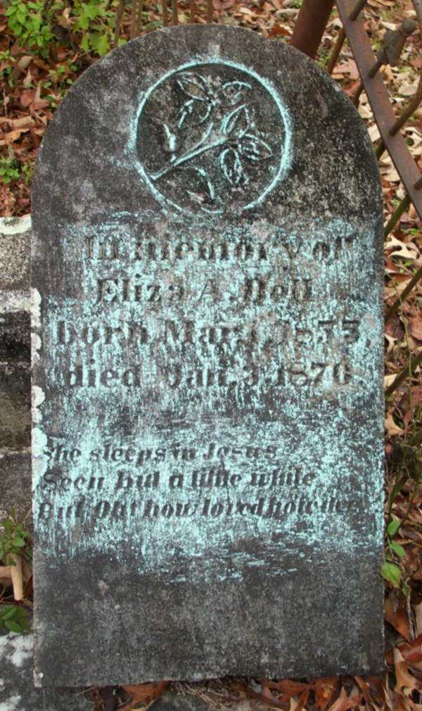 Eliza A. Dell Gravestone Photo