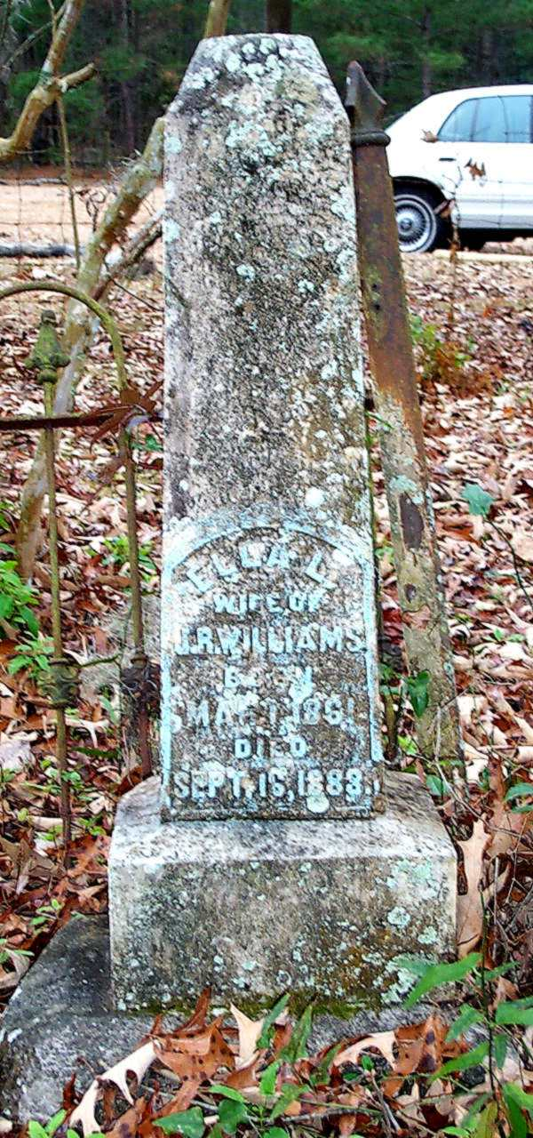 Ella L. Williams Gravestone Photo