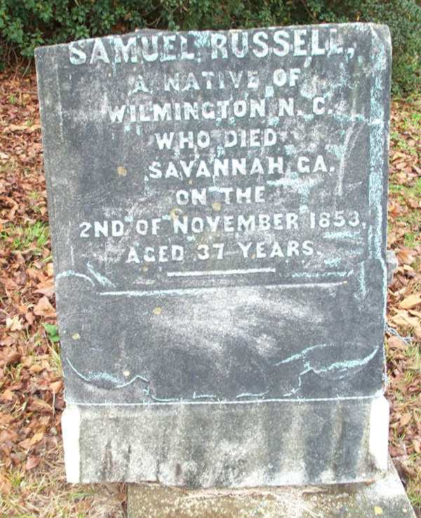 Samuel Russell Gravestone Photo