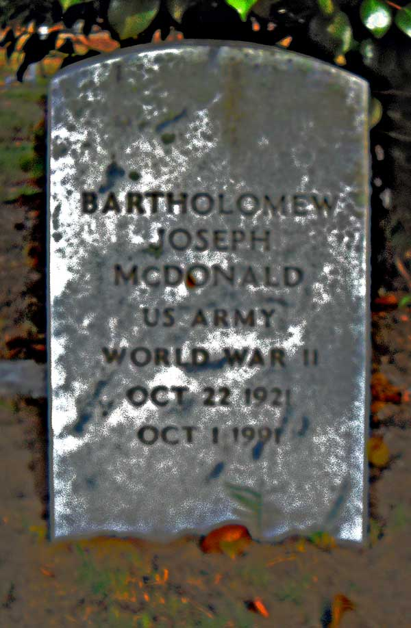 Bartholomew Joseph McDonald Gravestone Photo