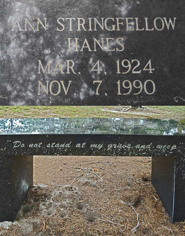 Ann Stringfellow Hanes Gravestone Photo