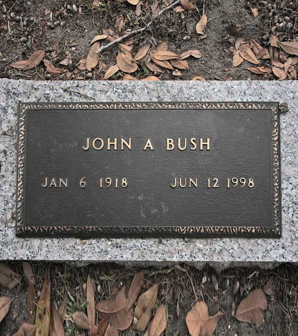 John A. Bush Gravestone Photo