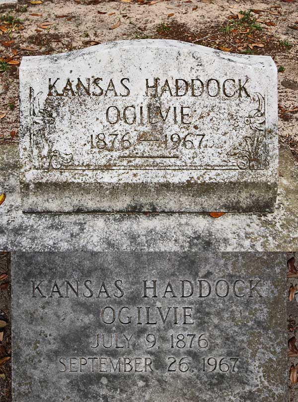Kansas Haddock Ogilvie Gravestone Photo